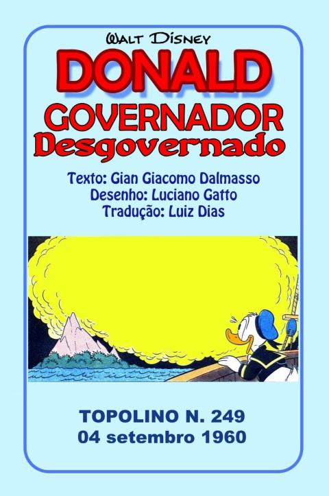COLEÇÃO LUCIANO GATTO 07 - GOVERNADOR DESGOVERNADO