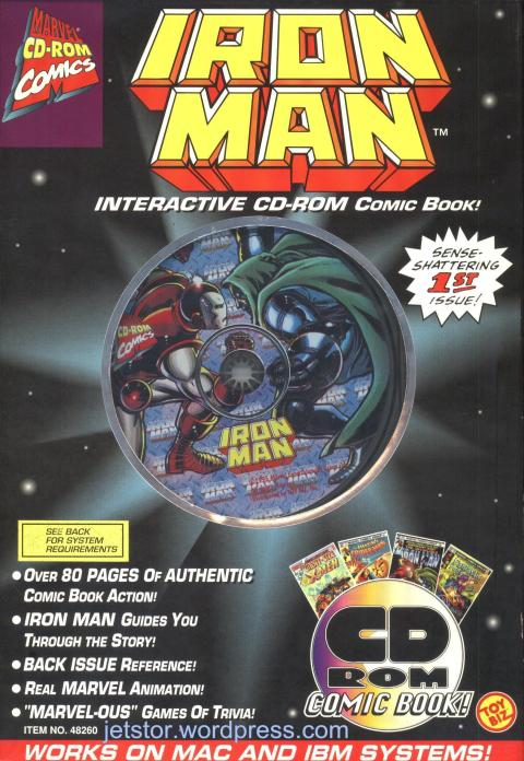 Iron Man CDROM Comic Book front w