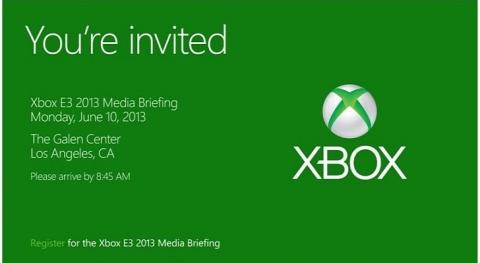 Convite para a conferência da Microsoft na E3 2013jpg