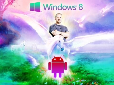 Jony Ive redesenha Windows 8 & Android - ao mesmo tempo