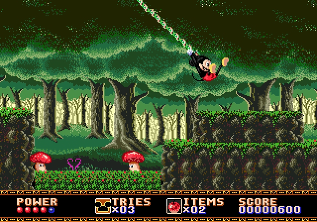 Castle of Illusion Fase 1 - Megadrive