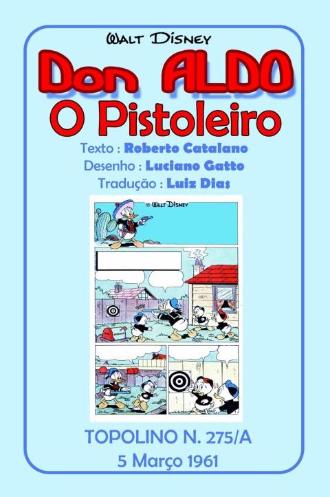 Pato Donald em Don Aldo o Pistoleiro - Luciano Gatto 10