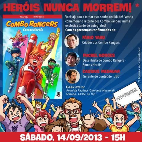 Combo Rangers Somo Heróis - Lançamento 14/09/13 - Geek.etc.br - SP/SP