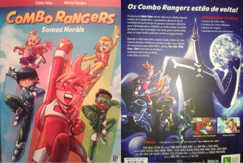 Combo Rangers Somos Heróis - capa e contracapa