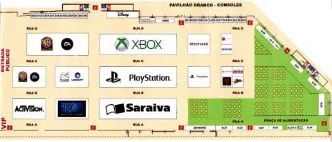 BGS 2013 - mapa pavilhão consoles