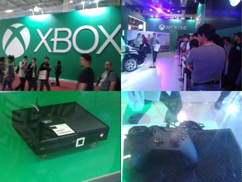 BGS 2013 - Estande da Microsoft com o Xbox One