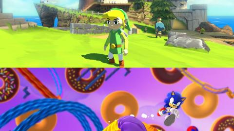 Zelda Wind Waker HD + Sonic Lost World