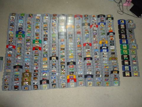 Complete N64 collection with all color variants