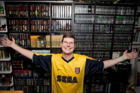 Michael Thommason e sua coleção de games