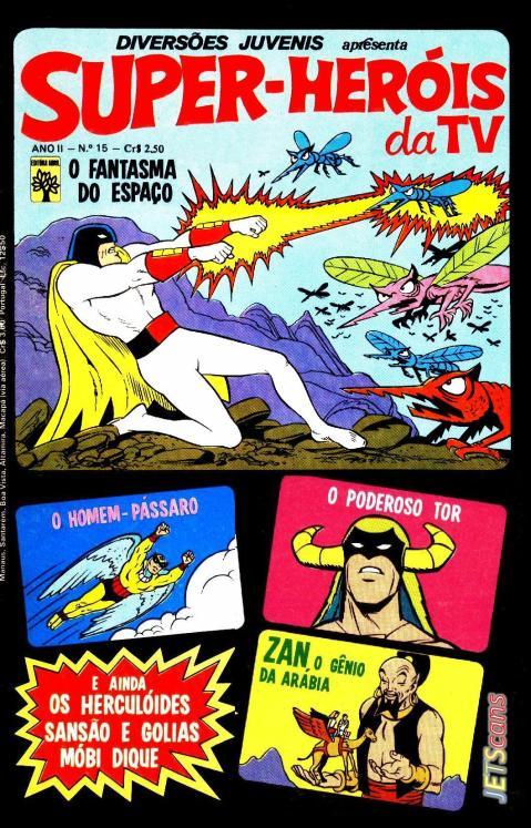 Capa de Super-Heróis da TV - Diversões Juvenis #15