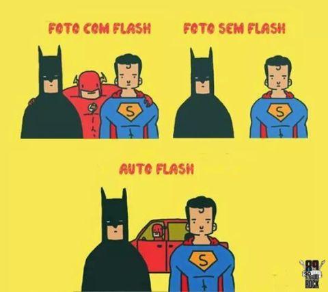Com e sem Flash