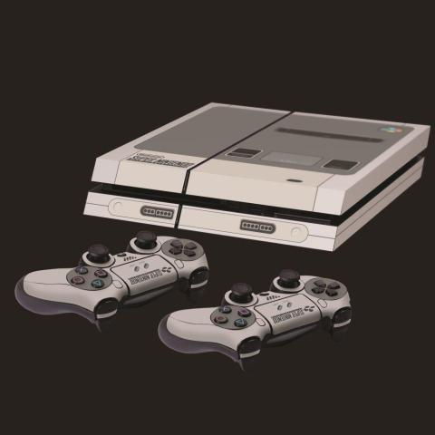 PS4 SNES skin