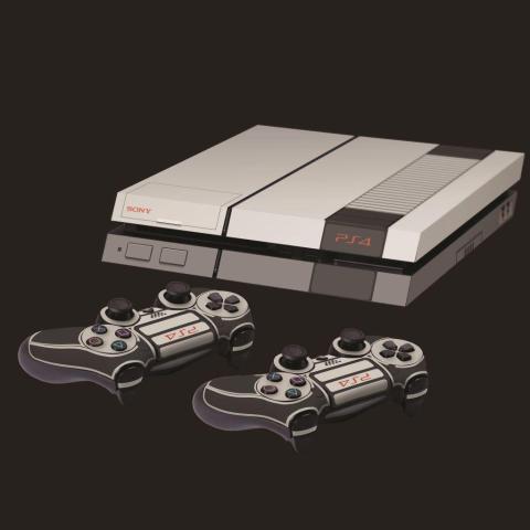 PS4 NES skin