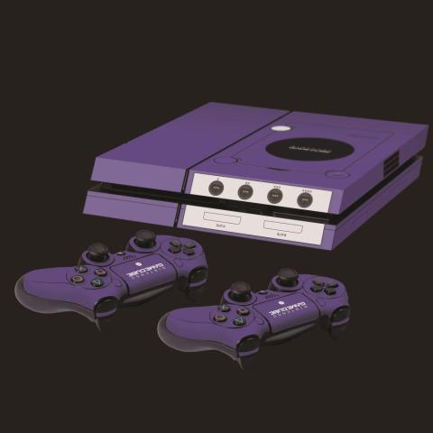 PS4 Gamecube skin