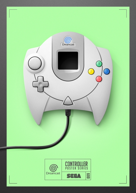 Dreamcast - Controller Poster Series by Behance