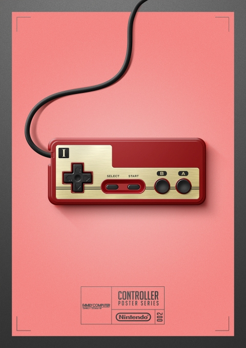 Famicon - Controller Poster Series by Behance