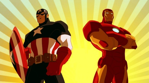Iron Man & Captain America @ Ultimate Spider-Man