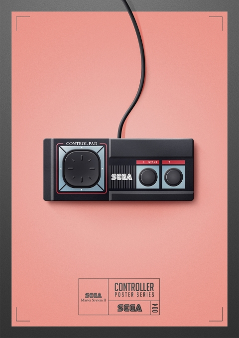 Master System - Controller Poster Series by Behance