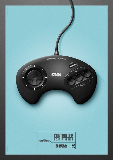 Mega Drive - Controller Poster Series by Behance