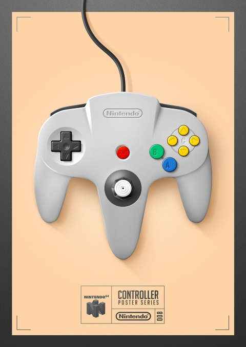 Nintendo 64 - Controller Poster Series by Behance