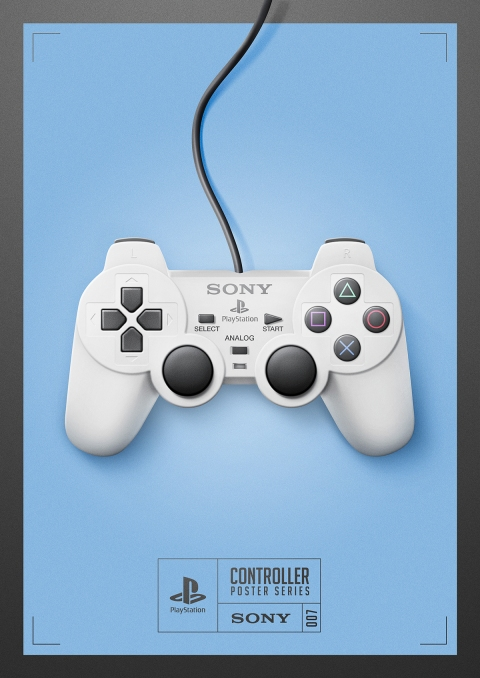 Playstation - Controller Poster Series by Behance