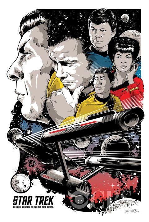 """To Boldly Go"" por Joshua Budich - Star Trek's 50th anniversary"