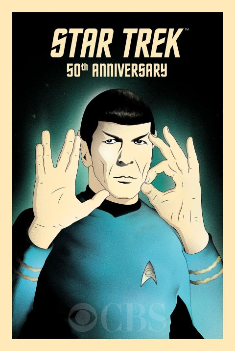 """Live Long and Prosper"" por Rocco Malatesta - Star Trek's 50th anniversary"