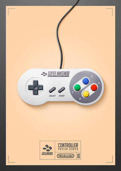 Super Nintendo - Controller Poster Series by Behance
