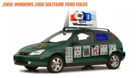 Windows Solitaire Ford Focus (Microsoft, 2000)