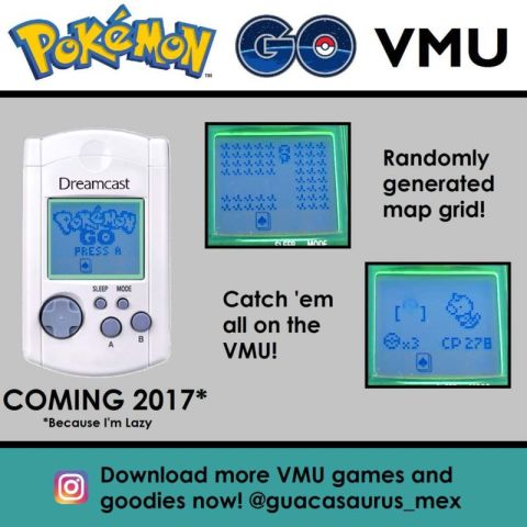 Dreamcast VMU - Pokemon Go port